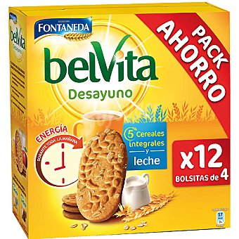 Belvita Fontaneda Desayuno con 5 cereales integrales y leche pack ahorro Estuche 600 g