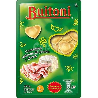 Buitoni Corazones de pasta fresca rellenos de jamón y queso Envase 250 g