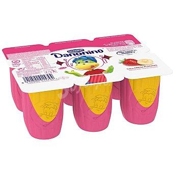 Danonino Danone Petit dúo plátano y fresa 6 unidades de 50 g