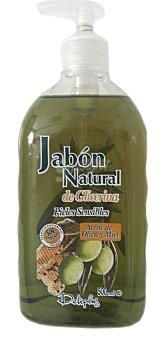 Deliplus Jabon manos liquido natural glicerina aceite oliva dosificador Botella 500 cc