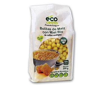 Ecocesta Bolitas de maíz con miel de cultivo ecológico 200 gramos
