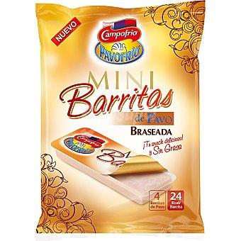 Campofrío Mini barritas de pavo braseado Pack 4 unidades 25 g