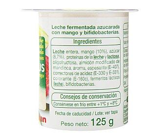 Auchan Yogur bífidus con mango 4 unidades de 125 gramos