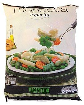 Hacendado Menestra verdura especial (con yemas esparragos,alcachofa y coliflor) congelada Paquete 1 kg
