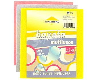 Rozenbal Bayetas absorbentes multiusos de colores 36x40cm 9 uds