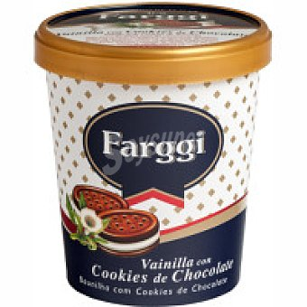 Farggi Tub`s de vainilla con cookies Tarrina 500 ml