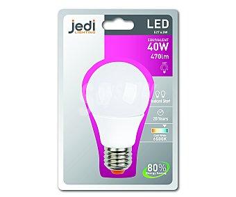 JEDI Bombilla Led Esférica 6.5W, E27, Luz Fría 1 Unidad