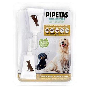 Krislin Pipetas perro tratamiento preventivo y repelente insectos Paquete 2 u