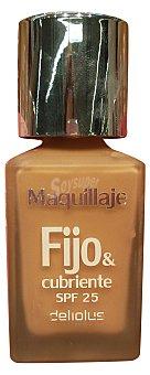 DELIPLUS Maquillaje fluido fijo&cubriente Nº 08 dorado 1 unidad