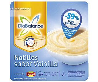DiaBalance Pascual Natillas vainilla GlucActive Pack 4 u x 100 g