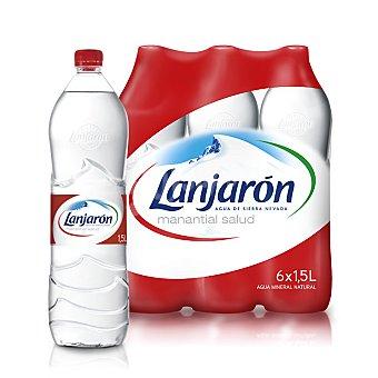 Lanjarón Agua mineral 6 botellas de 1,5 l