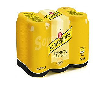Schweppes Tónica Pack 6x33 cl
