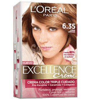 Excellence L'Oréal Paris Tinte creme nº 6.35 Ámbar Luminoso 1 ud