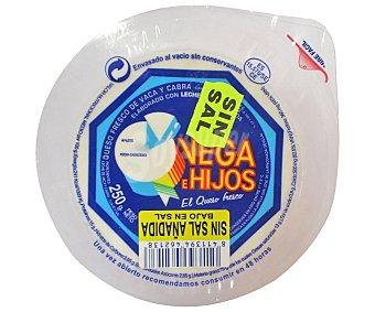 VEGA E HIJOS Queso fresco tradicional bajo en sal 250 gramos