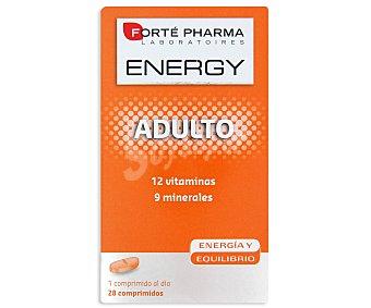 Energy Complemento alimenticio con 12 vitaminas y 9 minerales para dar energía y equilibrio, 28 Comprimidos