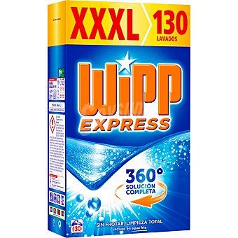 Wipp Express Detergente máquina polvo acción quitamanchas en frío Maleta de 130 cacitos