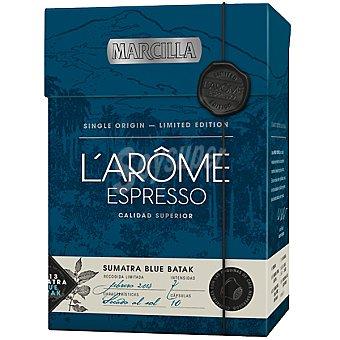 Marcilla cápsulas compatibles con máquinas de café Nespresso L'arôme espresso Sumatra Blue Batak