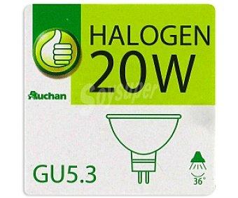 Productos Económicos Alcampo Foco Halógena dicroica 20W, GU5.3 1 Unidad