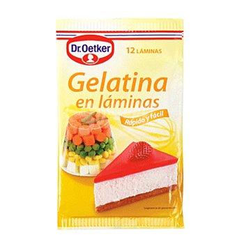 Dr. Oetker Gelatina neutra en láminas 12 láminas de 1,6 g