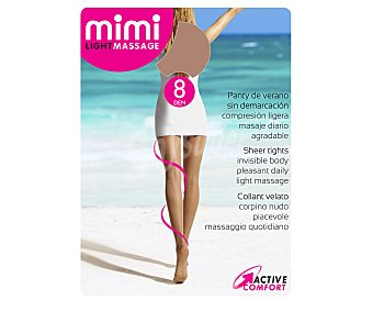 MIMI Light massage Panty de 8 Den transparente, color natural, talla M