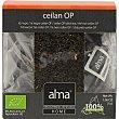 Ceilán Op té negro ecológico caja 25 bolsitas biodegradables home  Alma