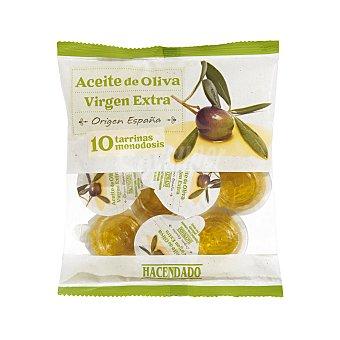 Hacendado Aceite oliva virgen extra monodosis  Pack 10 uds x 10 cc - 100 cc