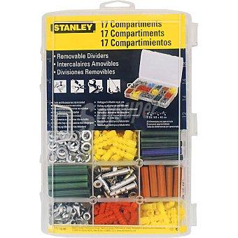 STANLEY Organizador transparente mediano con varios compartimentos sin accesorios