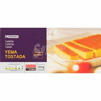 Eroski Turrón de yema tostada Caja 300 g