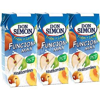 Don Simón Zumo de frutas con leche funciona sabor mediterráneo Pack 3 x 330 ml