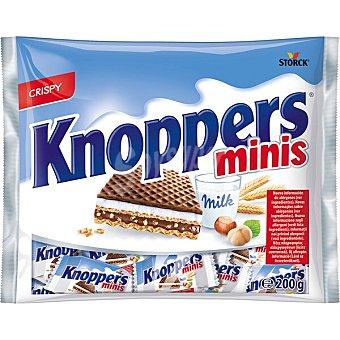Knoppers Minis galletas de barquillo con leche y avellanas Bolsa 200 g