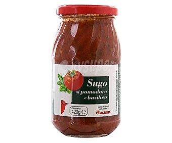 Auchan Salsa de tomate con albahaca Frasco de 420 grs