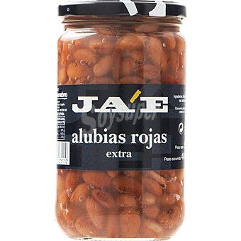 JA'E Alubia roja cocida extra Frasco 400 g neto escurrido