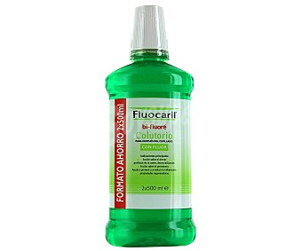 Fluocaril Colutorio para enjuague con flúor Pack 2 u x 500 ml