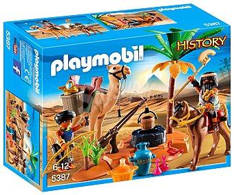 Playmobil Escenario de juego Campamento egipcio, incluye 2 figuras, History 5387 playmobil