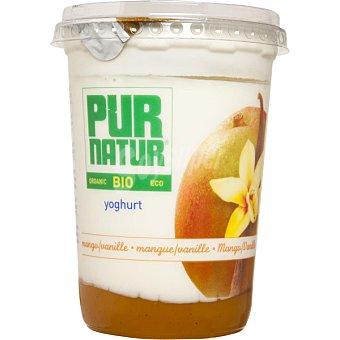 Pur Natur Yogur con mango y vainilla ecologico envase 500 g Envase 500 g