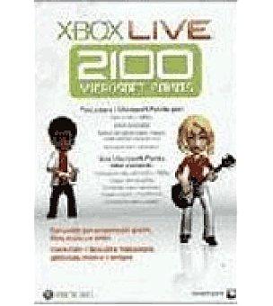 Microsof Tarjeta live 2100 puntos XBOX360