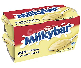 Milkybar Nestlé Mini crema de chocolate blanco Pack de 4x70 g