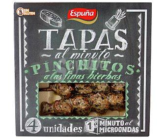 Espuña Pinchitos Fritos Finas Hierbas Bandeja 4Unidades 80 Gramos