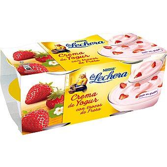 La Lechera Nestlé Crema de yogur con fresa Pack de 4x125 g
