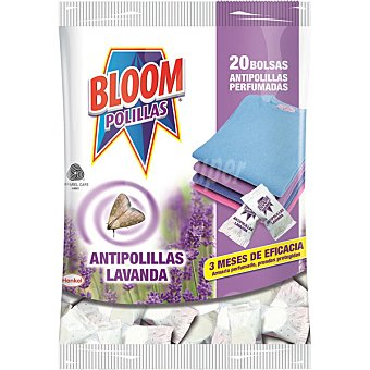 Bloom Antipolillas perfumadas aroma lavanda en bolas bolsa 20 unidades Bolsa 20 unidades