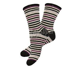 33 thirty three  pares de calcetines de mujer, color fantasía, talla 39/42 Pack de 2