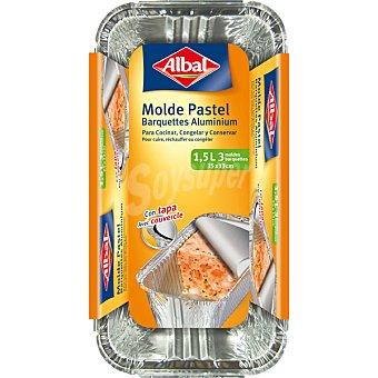 Albal Molde de aluminio igloo con tapa 1,5 k envase 3 unidades 1,5 k