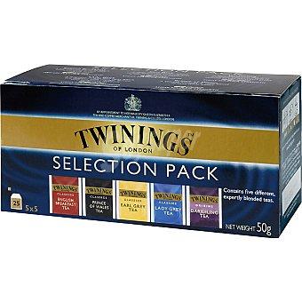 Twinings Surtido selección de té Orígenes estuche 25 sobres Paquete 25 Sobres