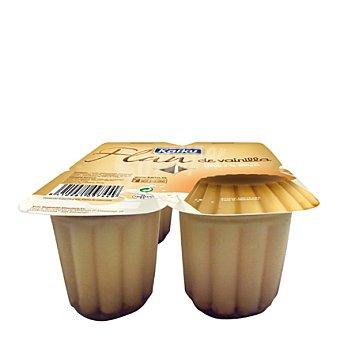 Kaiku Flan de vainilla Pack de 4 unidades de 100 g