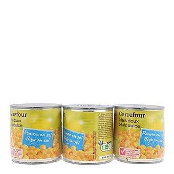 Carrefour Maíz sin azúcar Pack de 3x150 g