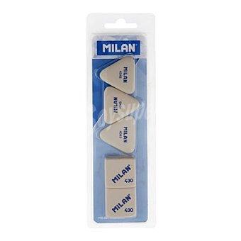 Milan Pack 3 Gomas de Borrar 4045 + 2 Gomas 430 5 ud