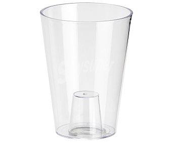 VAN Maceta de plástico, lisa y de color transparente 1 unidad