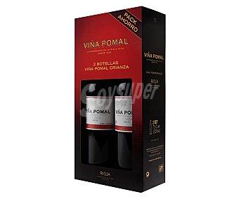 Viña Pomal Vino tinto crianza tempranillo con denominación de origen Rioja Pack 2 unidades de 75 centilitros