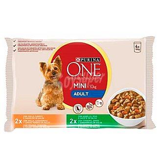 Purina One Comida perro adulto pollo-cordero 400 g