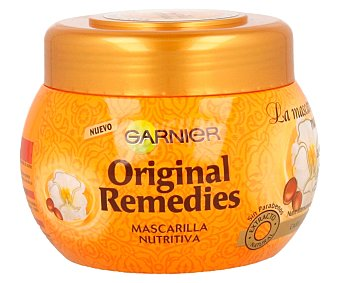 Garnier Mascarilla nutritiva con aceite de argán y aceite de camelia para cabello seco y apagado 300 mililitros